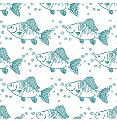 Seamless pattern fish perch vector