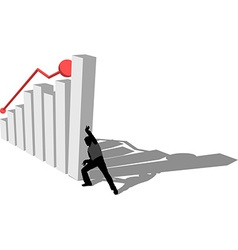 Finance diagram is falling down vector