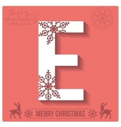 Set of christmas stylized alphabet and numbers vector