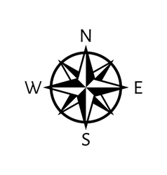 The compass icon navigation symbol flat vector