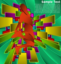 Abstract sport design series active people vector