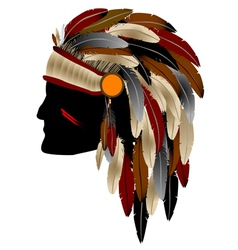 native american indian vector image
