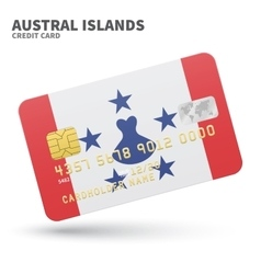 Credit card with austral islands flag background vector