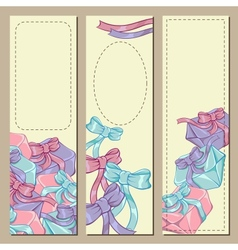 Colorfull gift box banners vector image