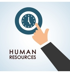 Human resources design people icon employee vector