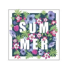 Floral summer greeting card design vector