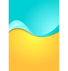 Abstract bright contrast wavy background vector