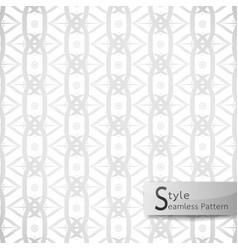 Abstract seamless pattern lotus loop mesh ribbon vector
