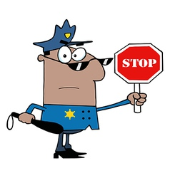African American Traffic Police Officer vector image vector image