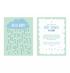 Baby shower invitation template for boy vector