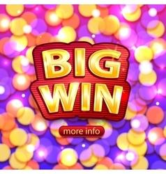 Big win background for online casino poker vector