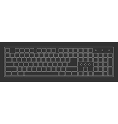Black laptop computer keyboard vector