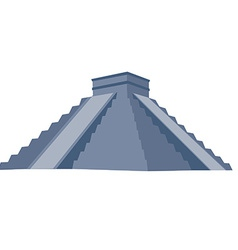 Chichen itza grey vector
