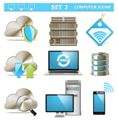 Computer Icons Set 3 vector image vector image