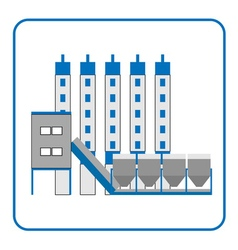 Concrete production plant icon in the frame 2 vector image