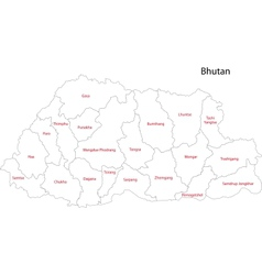 Contour bhutan map vector