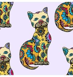 Cute doodle cats vector