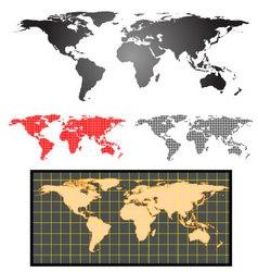 Earth map set vector