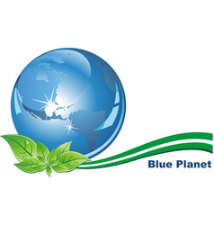 Ecological character - the blue planet in his vector