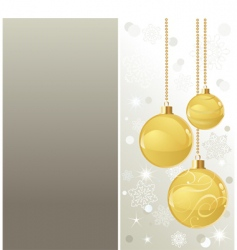 elegant christmas background with baubles vector image vector image