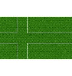 Flags ladonia on denim texture vector