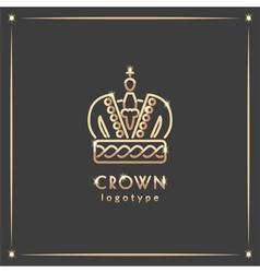 Golden crown logotype vector
