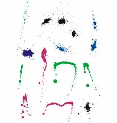 ink splashes and stains vector image
