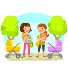 mothers with babies vector image vector image