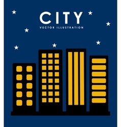 Night in the city vector