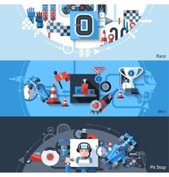 Racing Banner Set vector image vector image