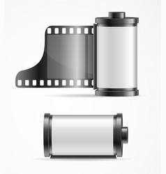 Realistic 3d detailed camera film roll cartrige vector