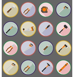 Repair tools flat icons 19 vector