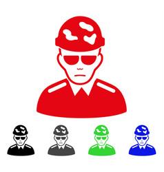 Sad swat soldier icon vector