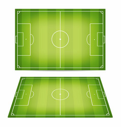 Soccer field collection football fields top view vector