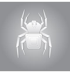Spider paper design vector image