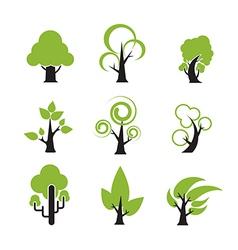 Tree Icon 002 vector image vector image