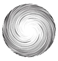 Vortex speed lines background collapsar on white vector