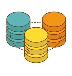 database hosting icon image design vector image