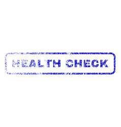 health check rubber stamp vector image