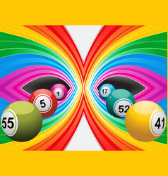 Colourful background with bingo lottery balls vector