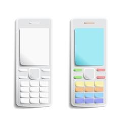 Paper phones vector image