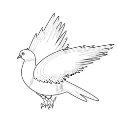 A monochrome sketch of a bird vector