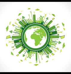 Go green or save earth background concept vector