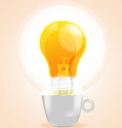 Lamp cup idea fresh business coffee vector
