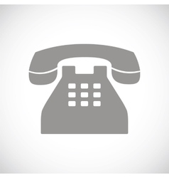 Telephone black icon vector