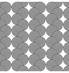Design seamless monochrome spiral twirl pattern vector