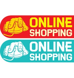 Online shopping design vector
