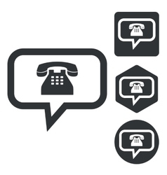 Phone message icon set monochrome vector