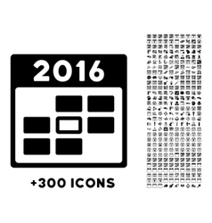 2016 binder date icon vector