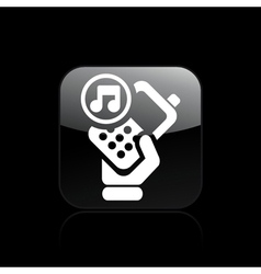 Phone music icon vector